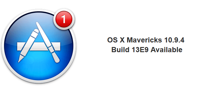 Mac OS X 10.9.4 Build 13E9