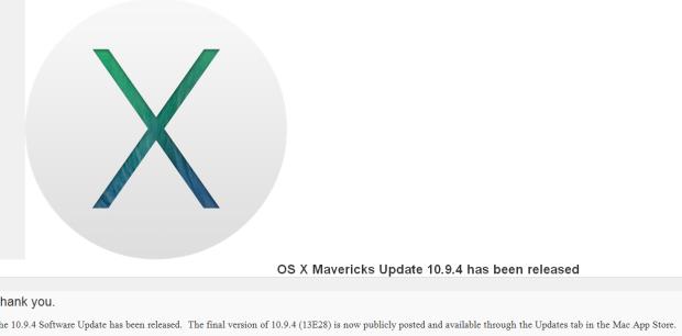 Mac OS X 10.9.4 13E28