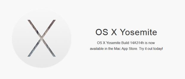 OS X Yosemite Build 14A314h