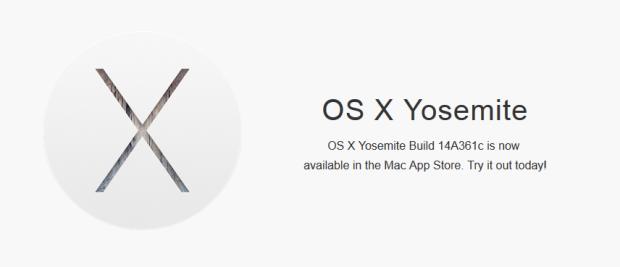 OS X Yosemite Build 14A361c