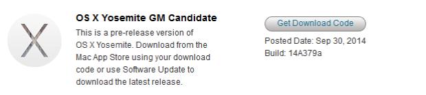 OS X Yosemite GM Candidate