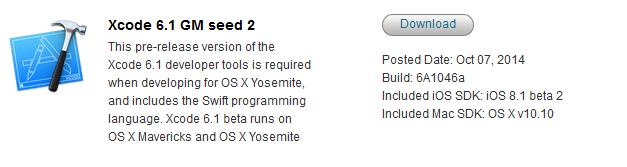 Xocde 6.1 GM Seed 2