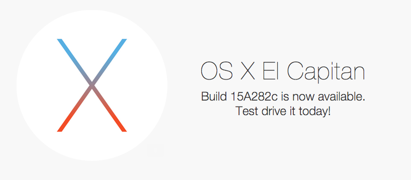 os x el capitan gm build 15a282c is now available