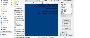 configure bginfo within MDT 8443